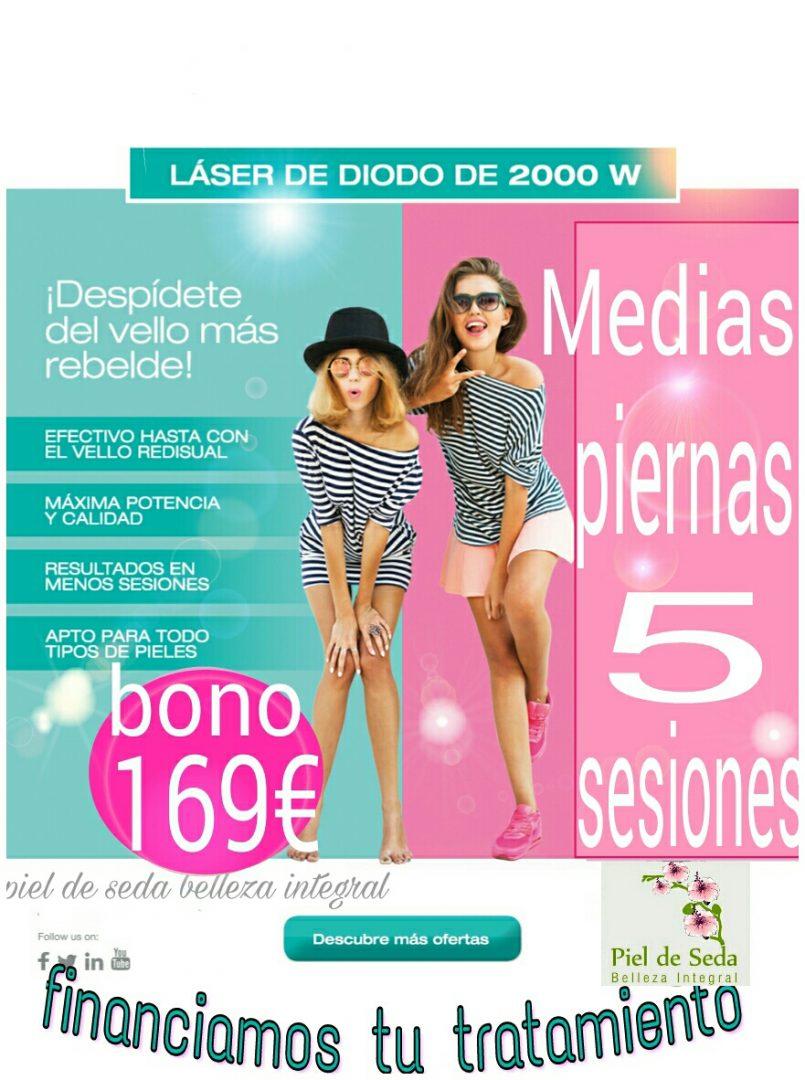 Depilación Láser en Alcalá de Guadaíra | Medias Piernas 5 sesiones Bono 169 euros